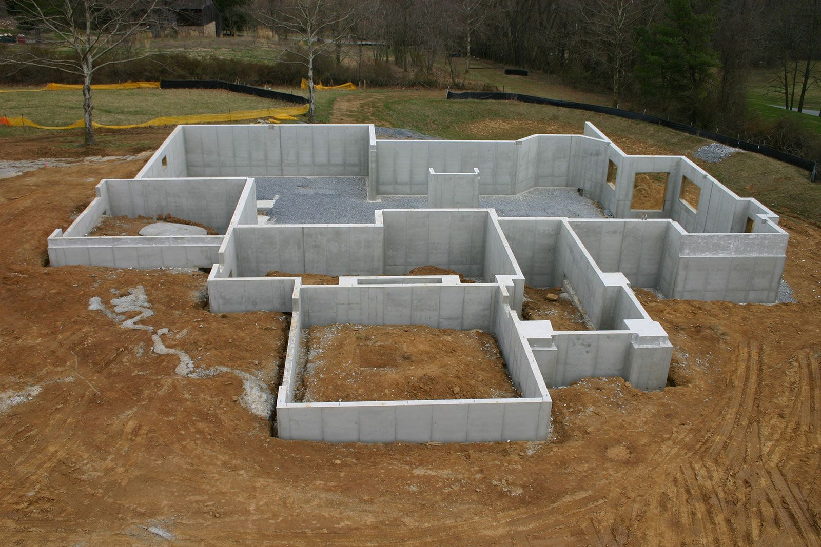 Image result for pour a concrete foundation foundation for Basement foundations construction