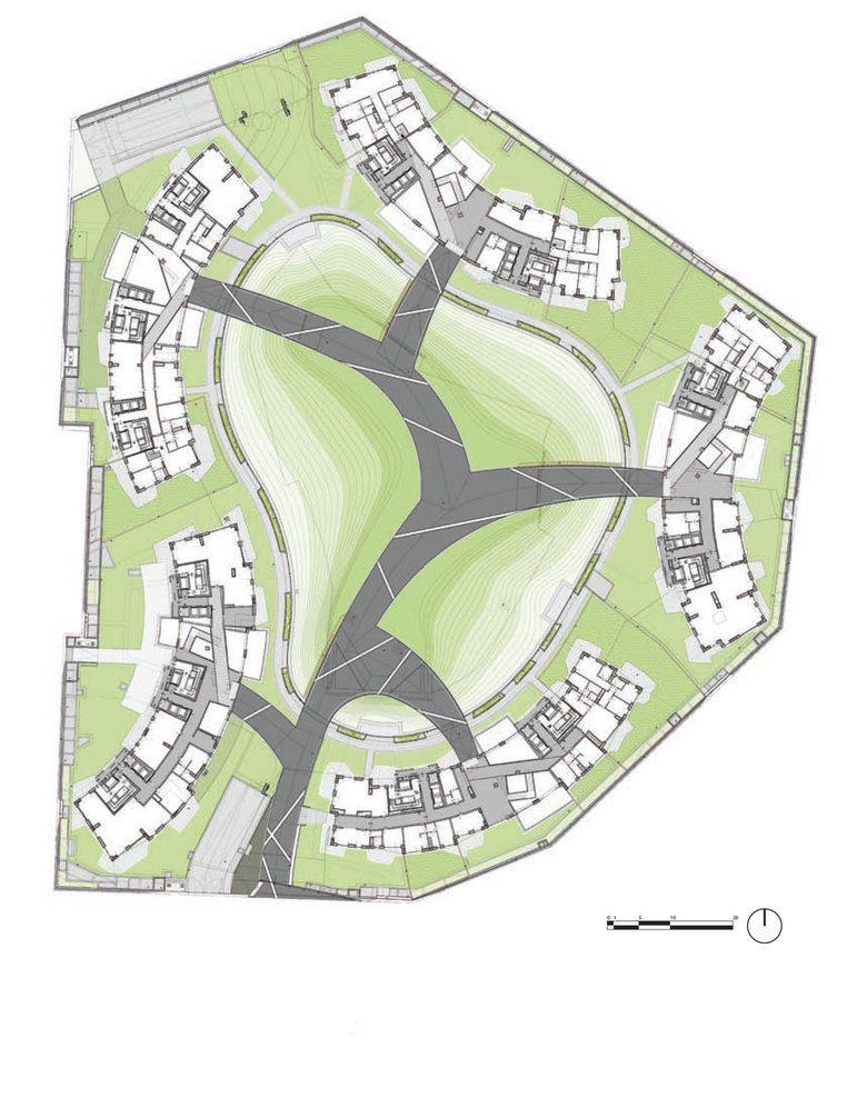 CityLife Daniel Libeskind Siteplan_full EVP Pinterest Plan
