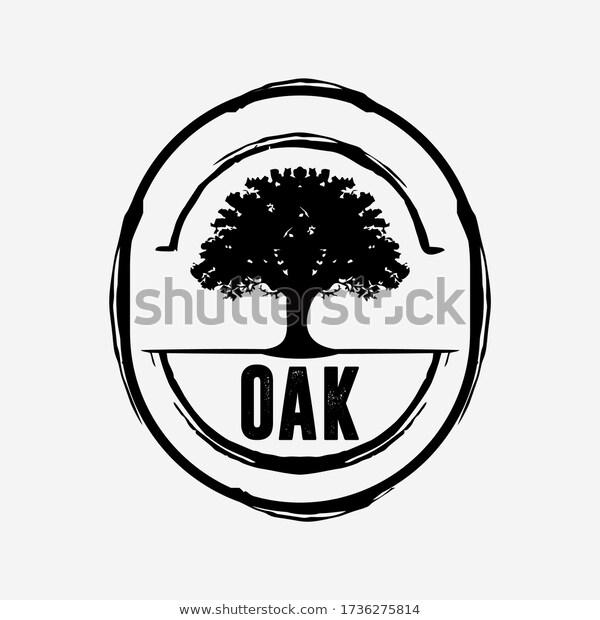 Oak Tree Logo Design Premium Stock Vector Royalty Free 1736275814 Oak Tree Logo Design Tree Logo Design Logo Design