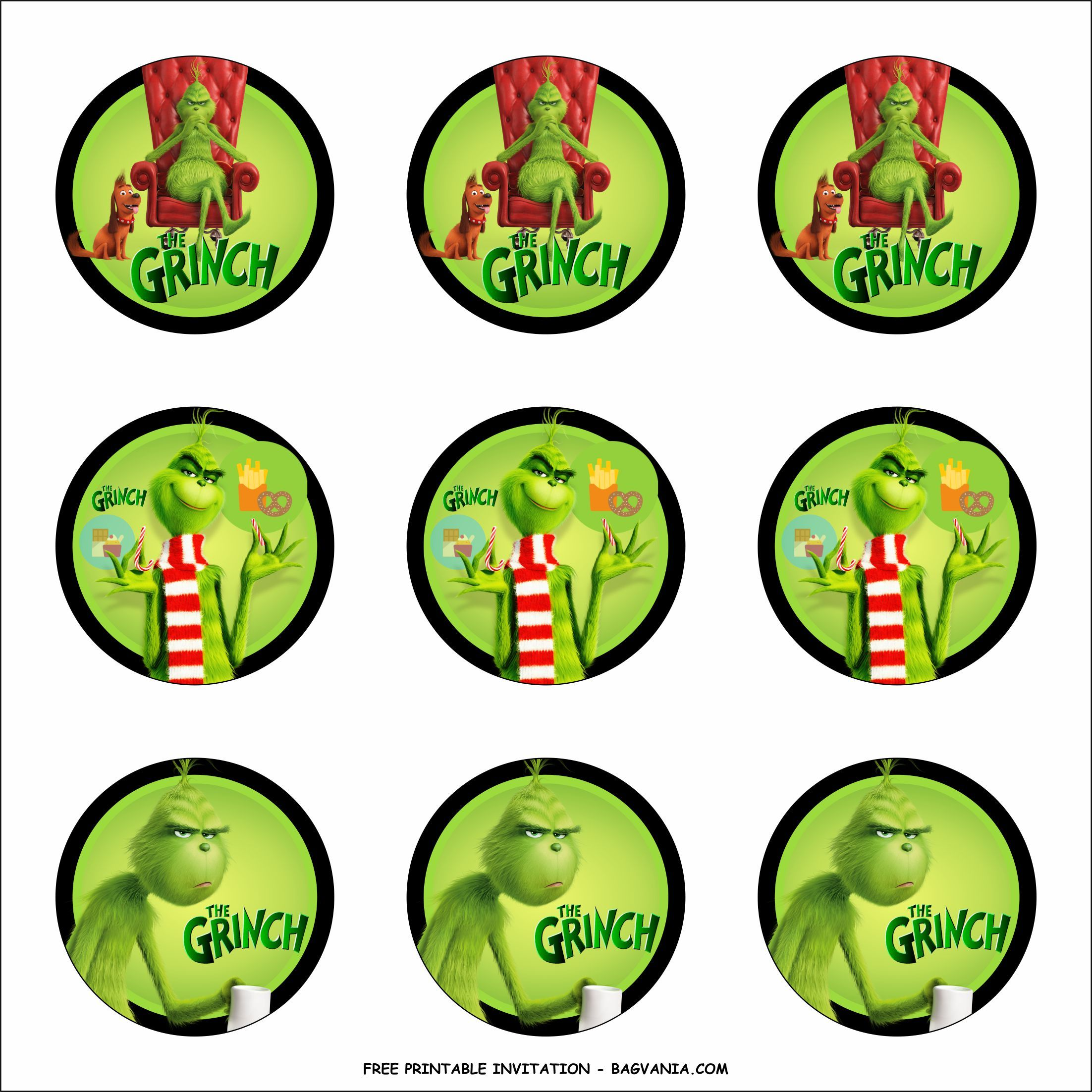 Free Printable The Grinch Birthday Party Kits Template Birthday Party Kits Grinch Decorations Grinch