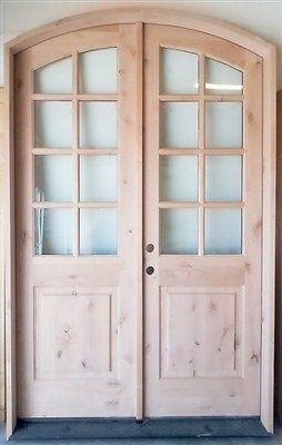 French Provincial Double Eight Lite Eyebrow Knotty Alder 36 X 96 Doors Solid Wood Front Door Entry Doors Wood Front Doors