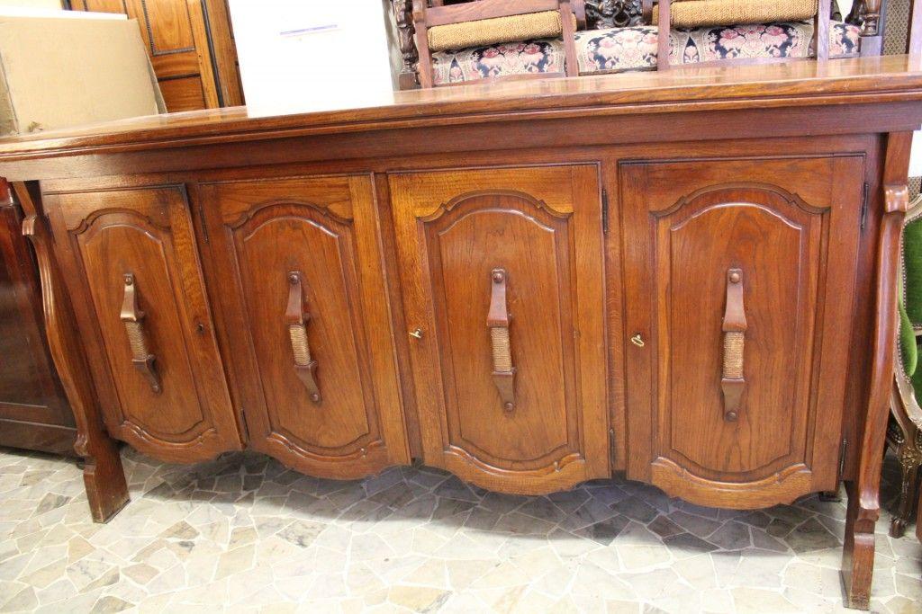 Sala da pranzo in rovere anni 50 60 borgo dora antiquaria esposizione in via andreis 18 1 con - Valutazione mobili antiquariato ...