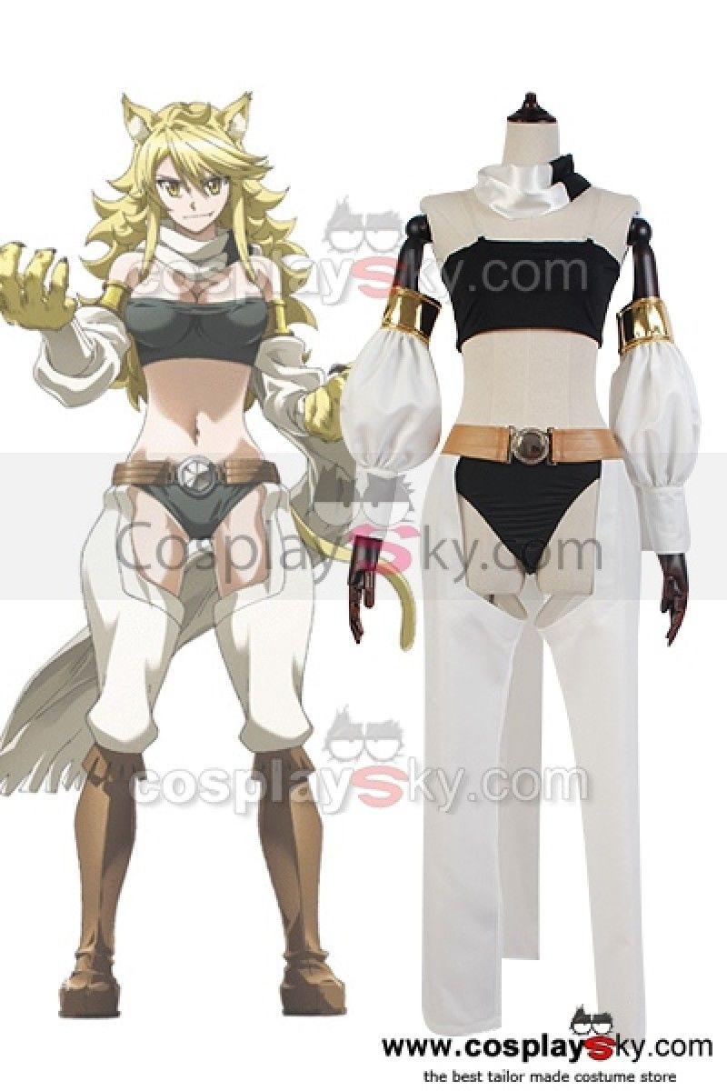 Akame ga KILL! Night Raid Leone Outfit Cosplay Costume, made in your own  measurements