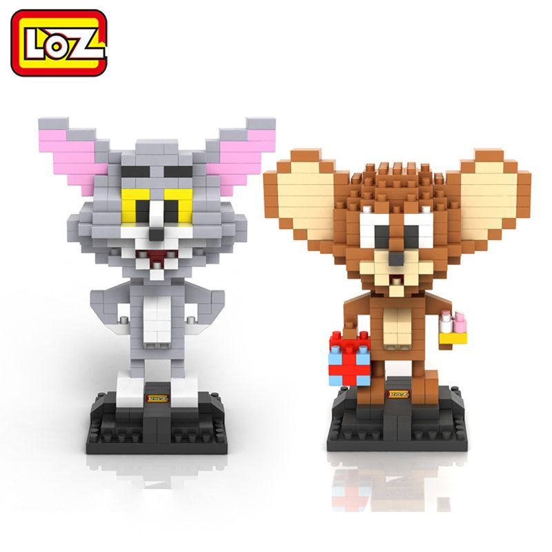 LOZ Tom and Jerry Assembly Toy Cat Mouse Diamond Blocks iBlock Fun