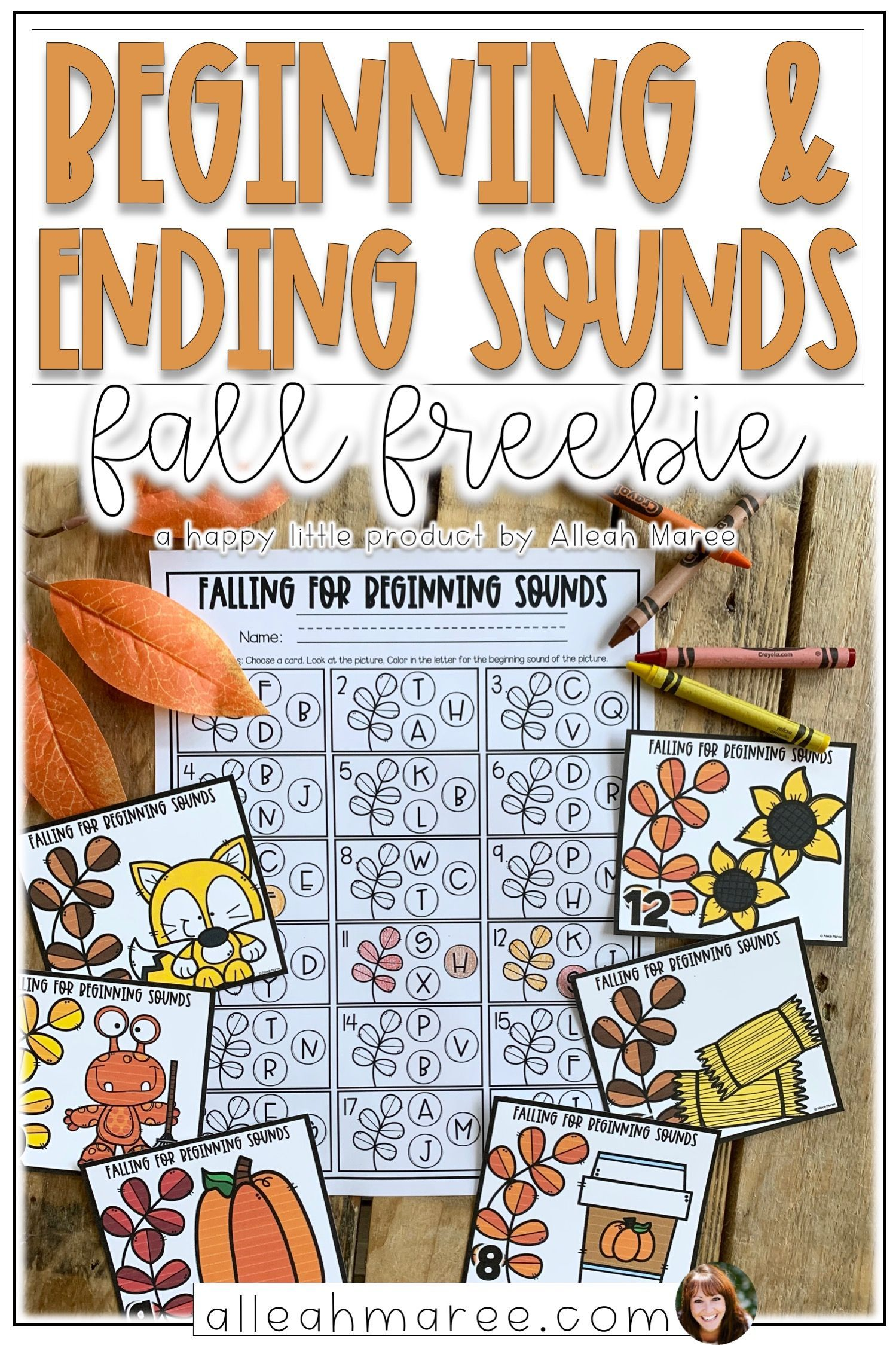 Fall Freebie Beginning And Ending Sounds With Images