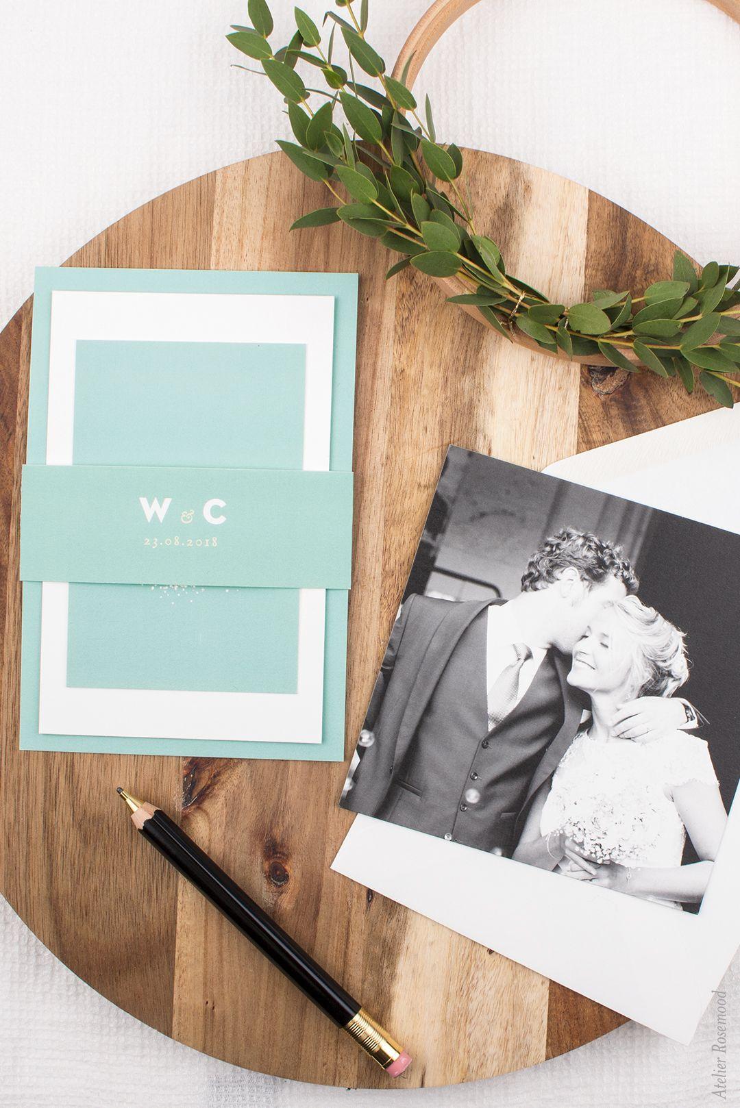 Antwortkarte Schleier In Grun Fur Naturliche Hochzeitseinladungen