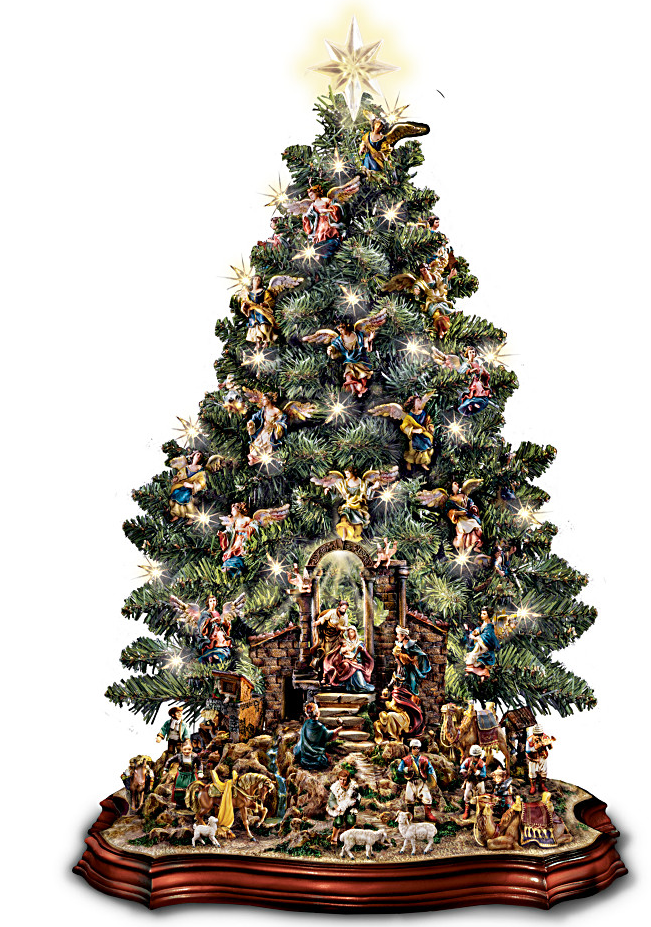 Nativity Scene Musical Pre Lit Tabletop Christmas Tree Fun Christmas Decorations Tabletop Christmas Tree Christmas