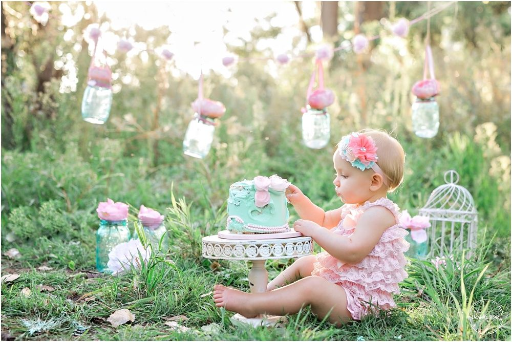 Outdoor Whimsical Cake Smash Denver Co Baby Photographer With