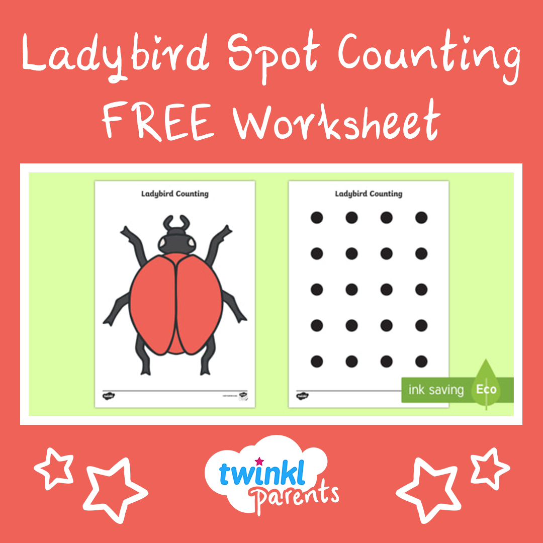 This Lovely Ladybird Spot Counting Game Is Perfect For