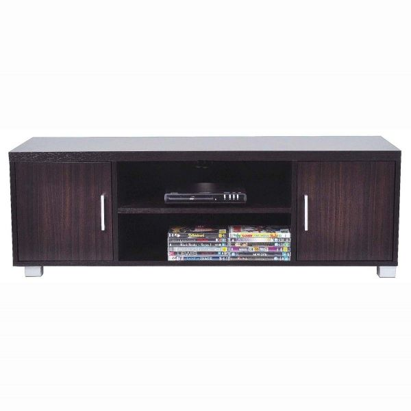 Low Line Entertainment Centre With Shelf & 2 Doors 120x39.5x40cm $59 - Cheap as Chips