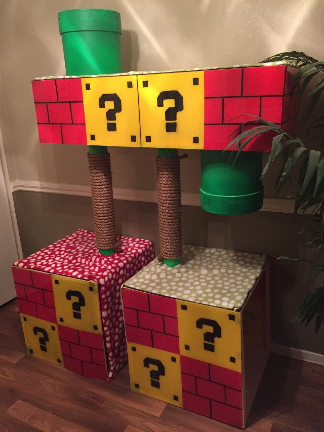 Super Mario Inspired Cat Playhouse