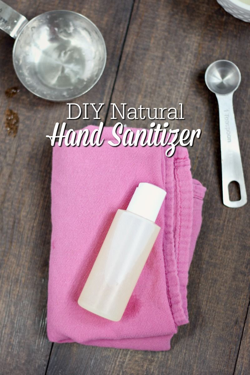 Diy Hand Sanitizer Simple Natural Recipe Natural Hand Sanitizer