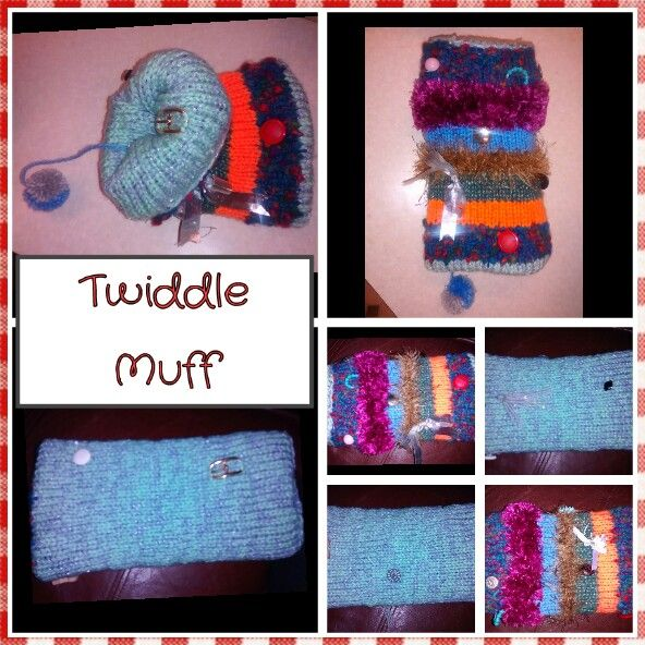 Free Crochet Pattern For Twiddle Muff : HOW TO MAKE YOUR OWN Twiddle Muffs for people with ...