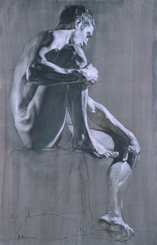 Artist Alexey Morosov 2003 Male Human Body Man Anatomy Drawing