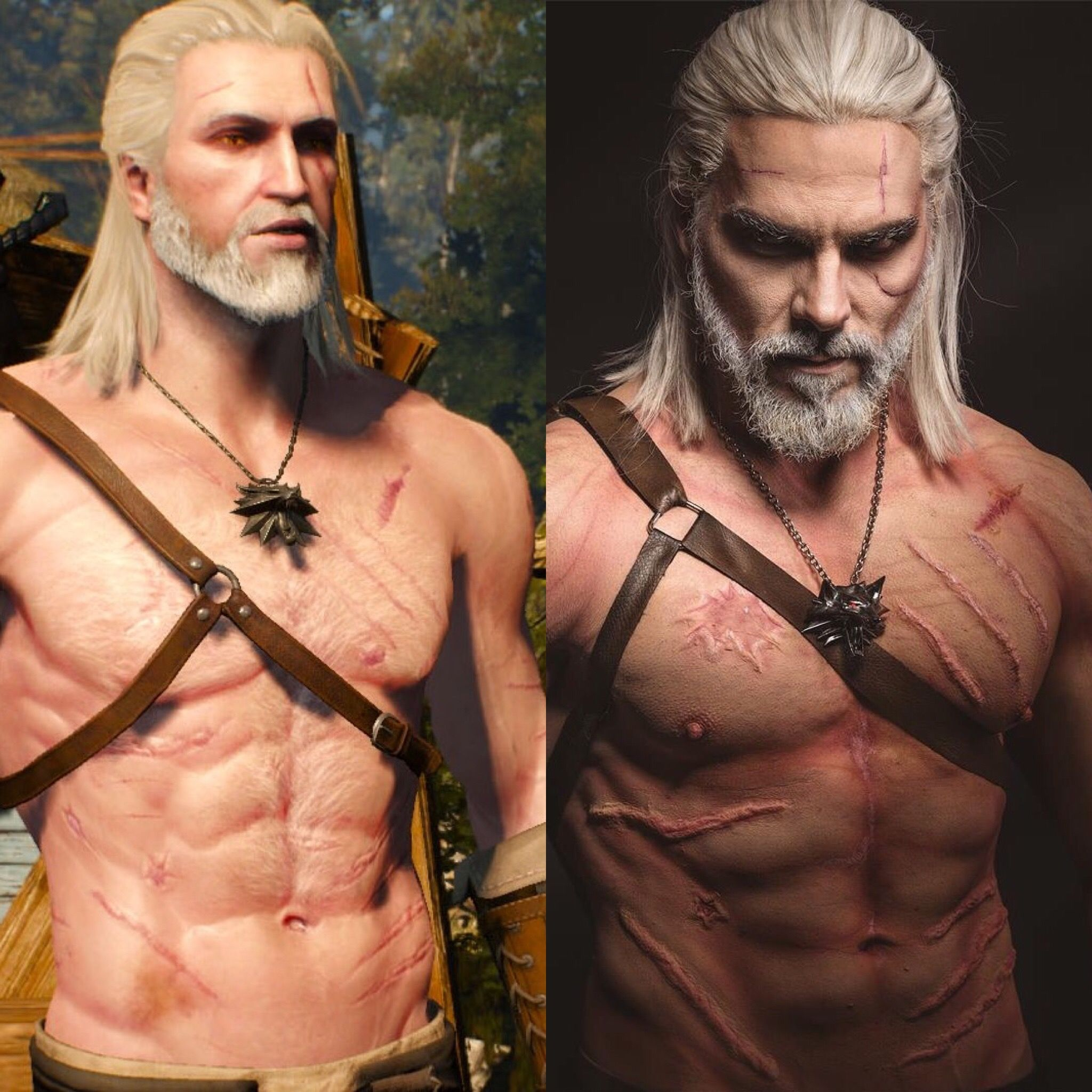 Woooow O Geralt Von Riva Witcher 3 Wild Hunt Cosplay Gaming And