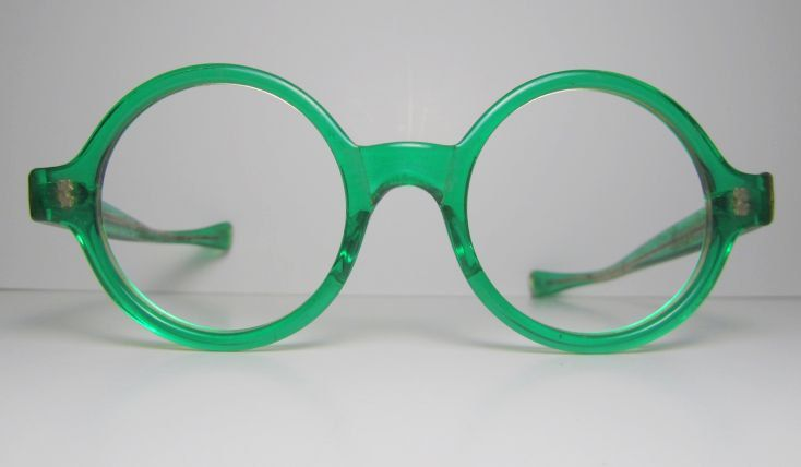 595e998acc8 1960s Round Green Clear optical frames for Eyeglasses or Sunglasses NEW OLD  STOCK.  120.00