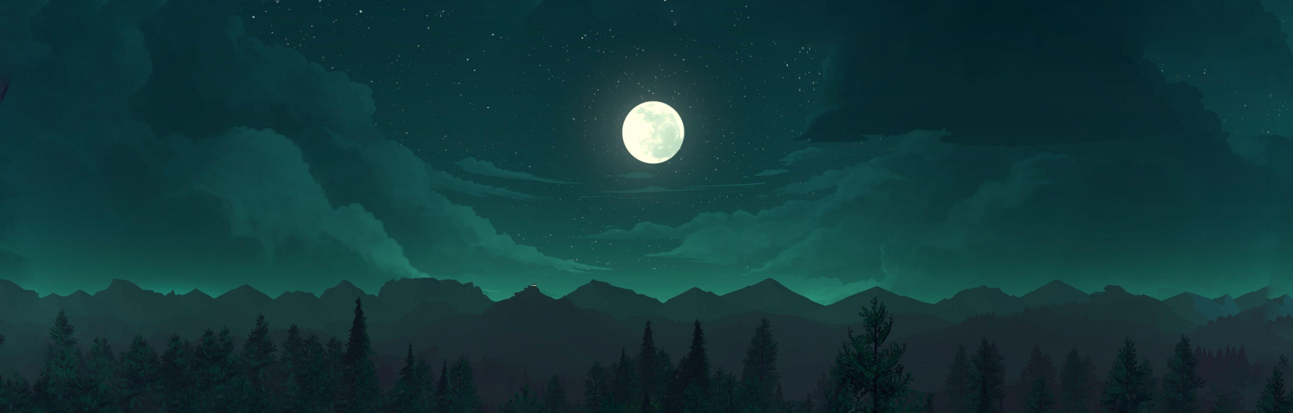 Video Game Firewatch Moon Wallpaper Ambiance, Écran
