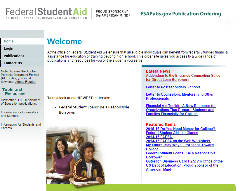 Schools may order up to 50 copies of the paper FAFSA via