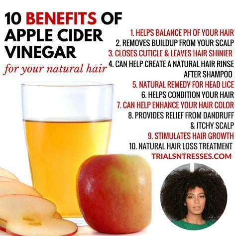 10 Benefits Of Apple Cider Vinegar For Your Natural Hair #AppleCiderVinegarForSkin #applecidervinegarbenefits
