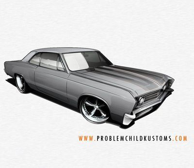 drawing classic muscle cars –