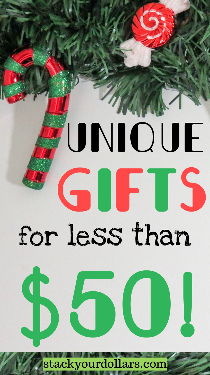 Looking for some truly unique gifts for your friends and family that won't leave you feeling like you overspent on the holidays? These carefully selected gift ideas will help you do your holiday shopping while sticking to your budget, and most importantly, keeping your friends and family happy! #savemoney #shoponabudget #holidayshopping #holidaybudget #giftideas #holidaygifts #stackyourdollars #spendless #uniquegifts #budgetgifts #budgetholiday