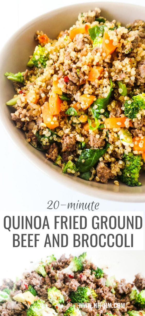 Healthy Ground Beef And Broccoli Fried Quinoa Recipe Her Highness Hungry Me In 2020 Ground Beef And Broccoli Ground Beef Recipes Healthy Healthy Ground Beef