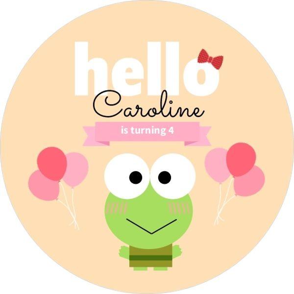 Hello Cute Frog Birthday Party Invitation by PurpleTrailcom