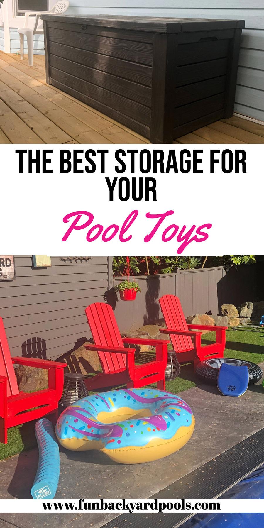 Best Pool Toy Storage And Outdoor Storage Boxes For 2019 Pool Toy Storage Backyard Toys Pool Toys