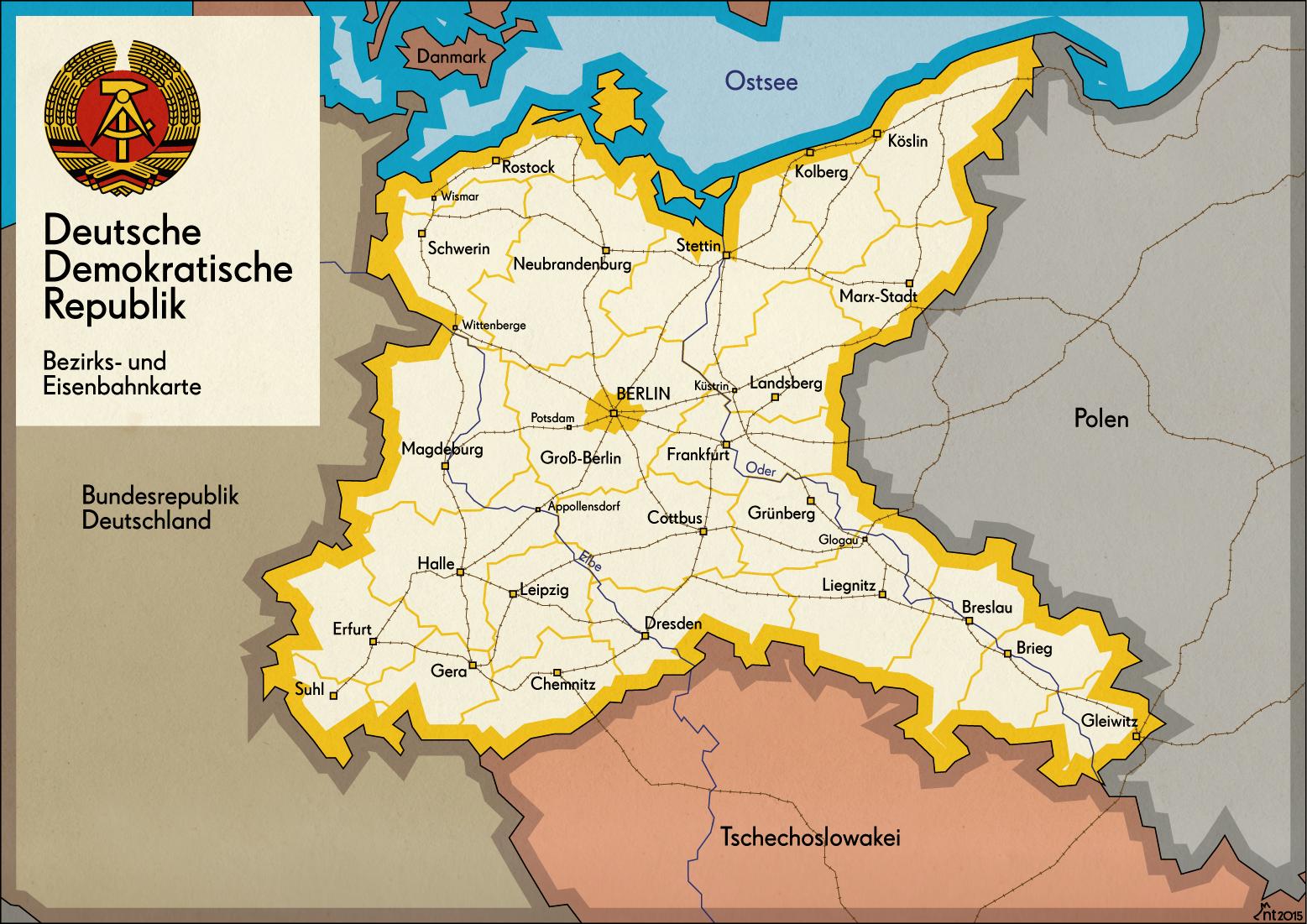 Pommern Germany Map.Eine Ddr Mit Schlesien Pommern Und Ganz Berlin Buildings Never