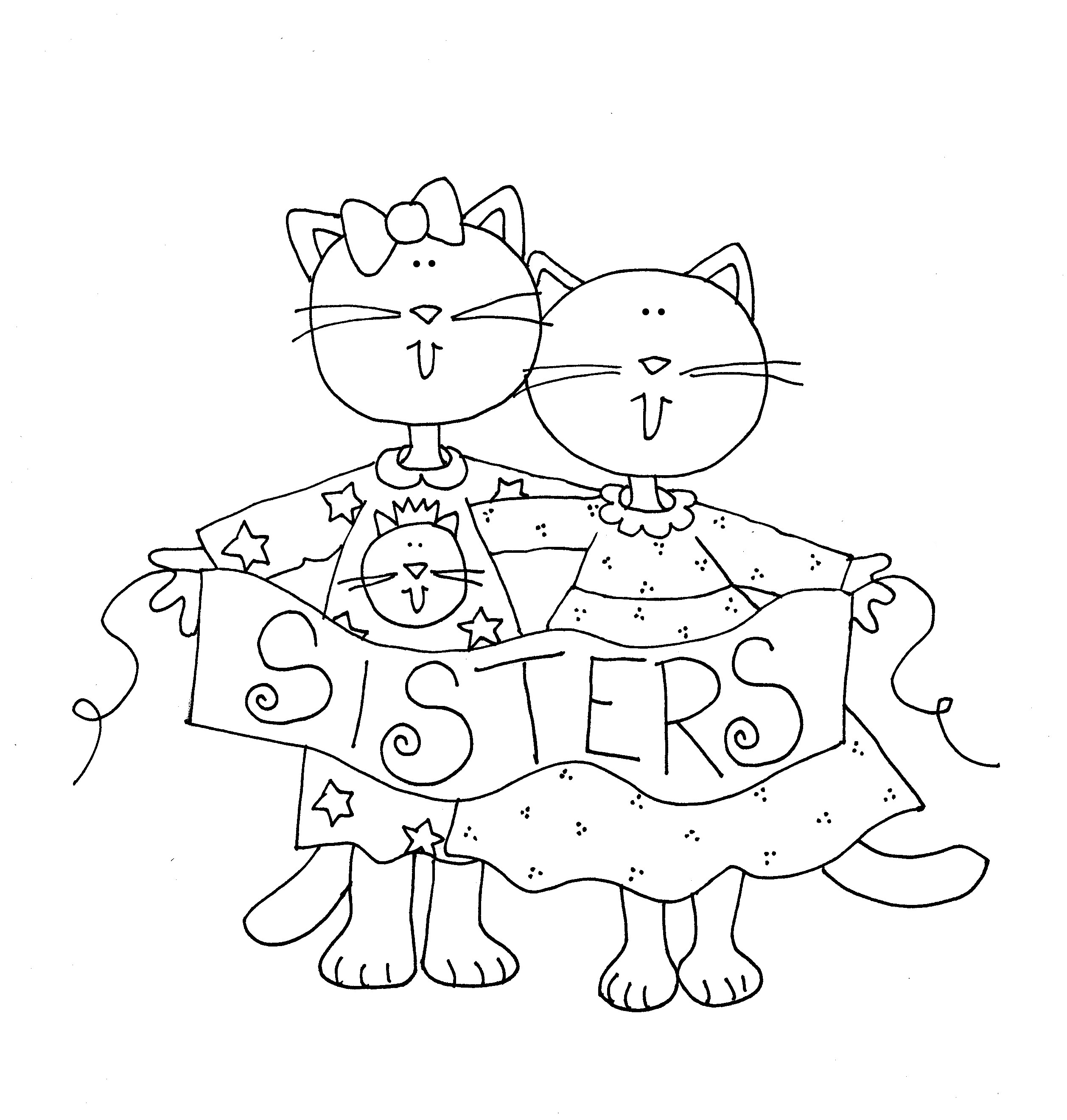 milo cat otis dog coloring pages | Cat Sisters | Dearie Dolls Digi Stamps | Digi stamps ...