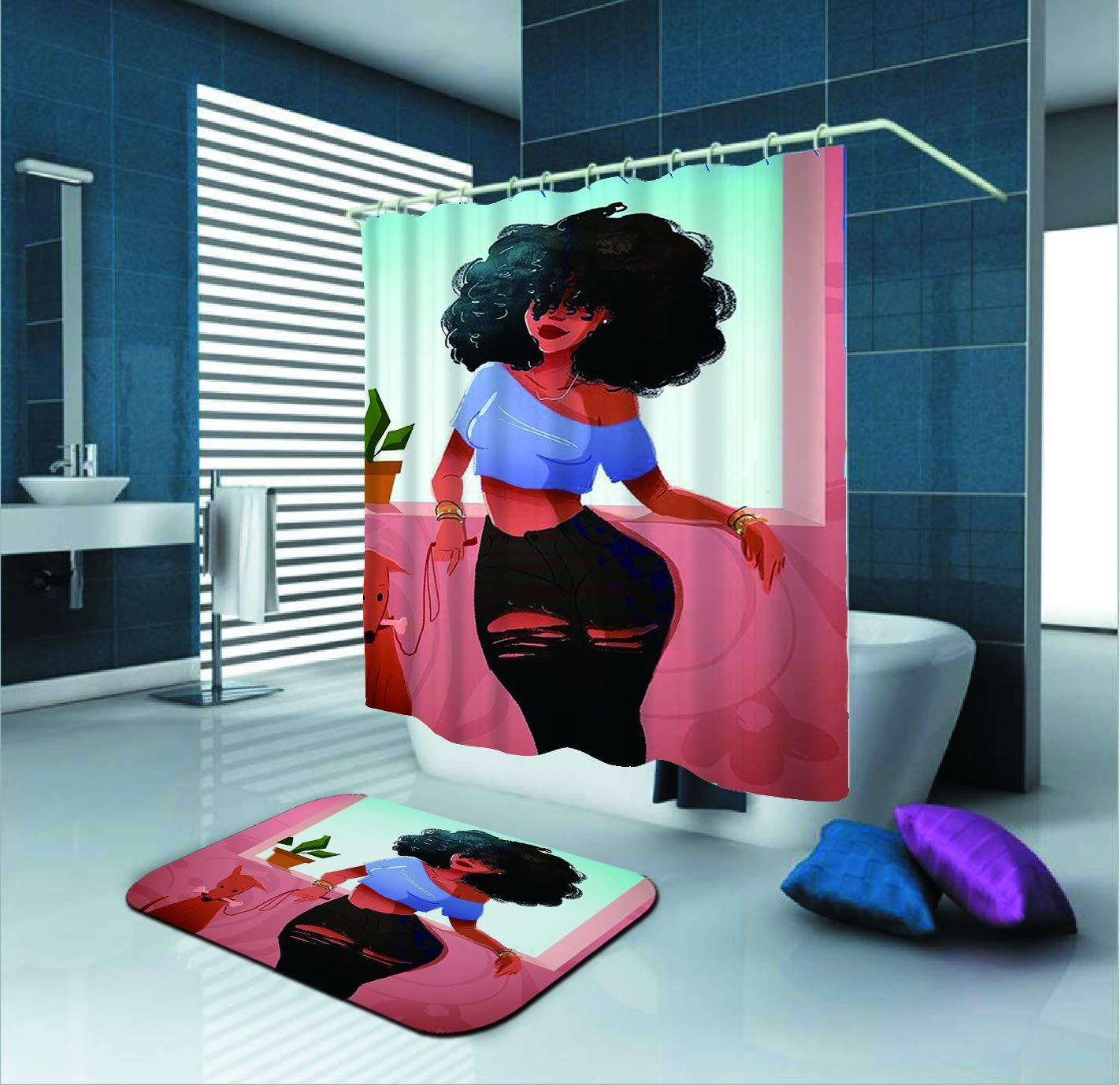 26 99 Afrocentric Shower Curtain By Sara Nell Black Woman With