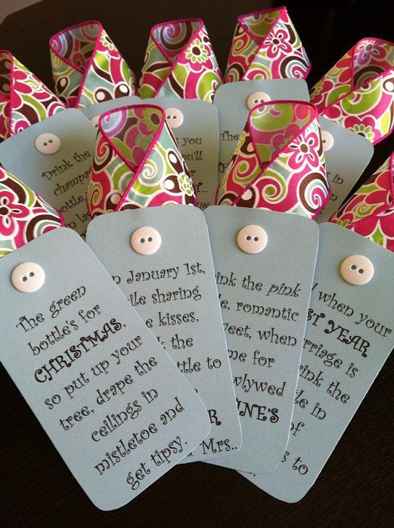 Bridal shower or wedding wine gifts Gifts Pinterest Craft
