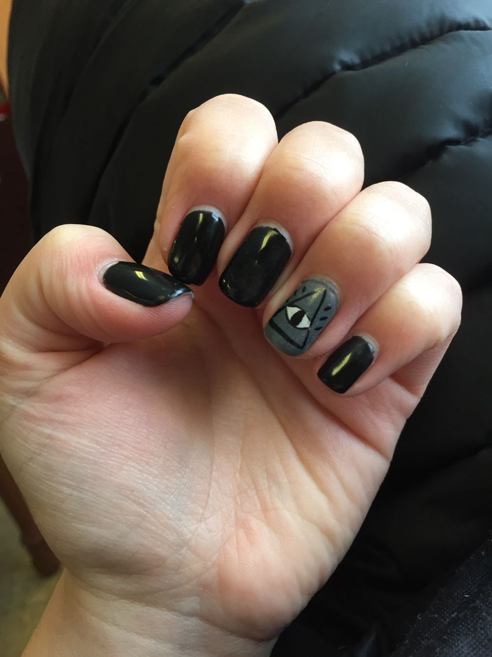 Black nails with evil eye design | Nails | Pinterest | Black nails