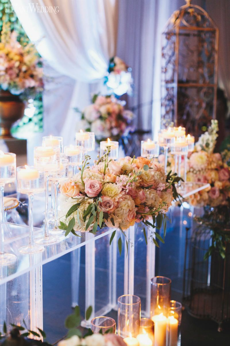 Contemporary wedding with pops of pink table settings pinterest enchanted garden and tables also