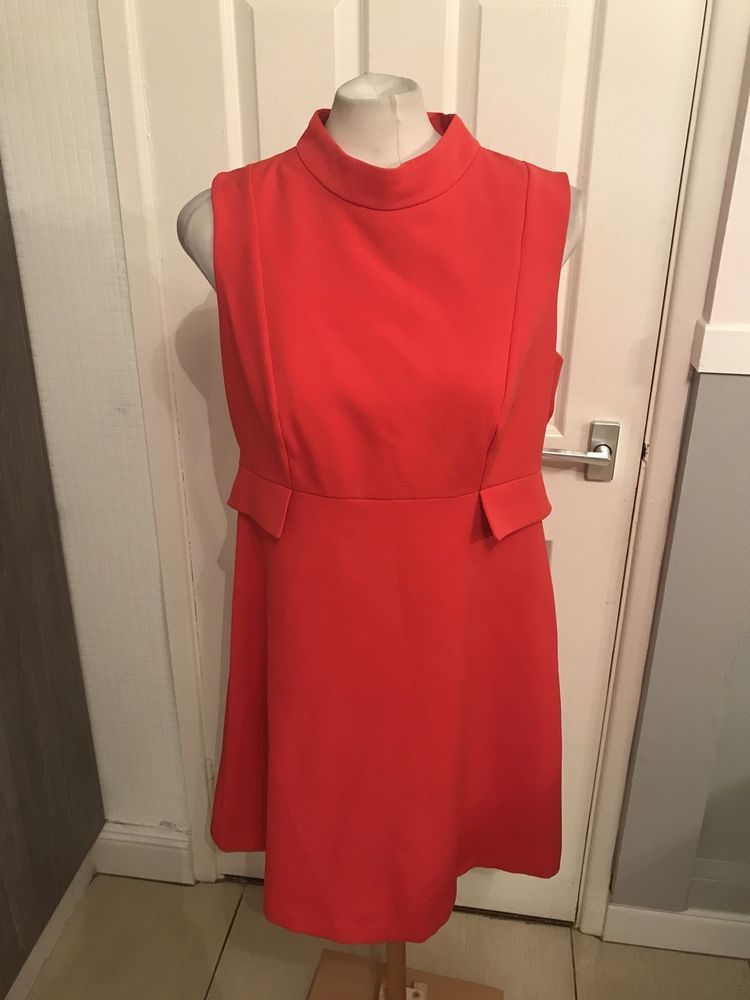 ba909cd791b Ladies Red High Neck Style Dressy Look Dress Size 16 F F  fashion  clothing   shoes  accessories  womensclothing  dresses (ebay link)