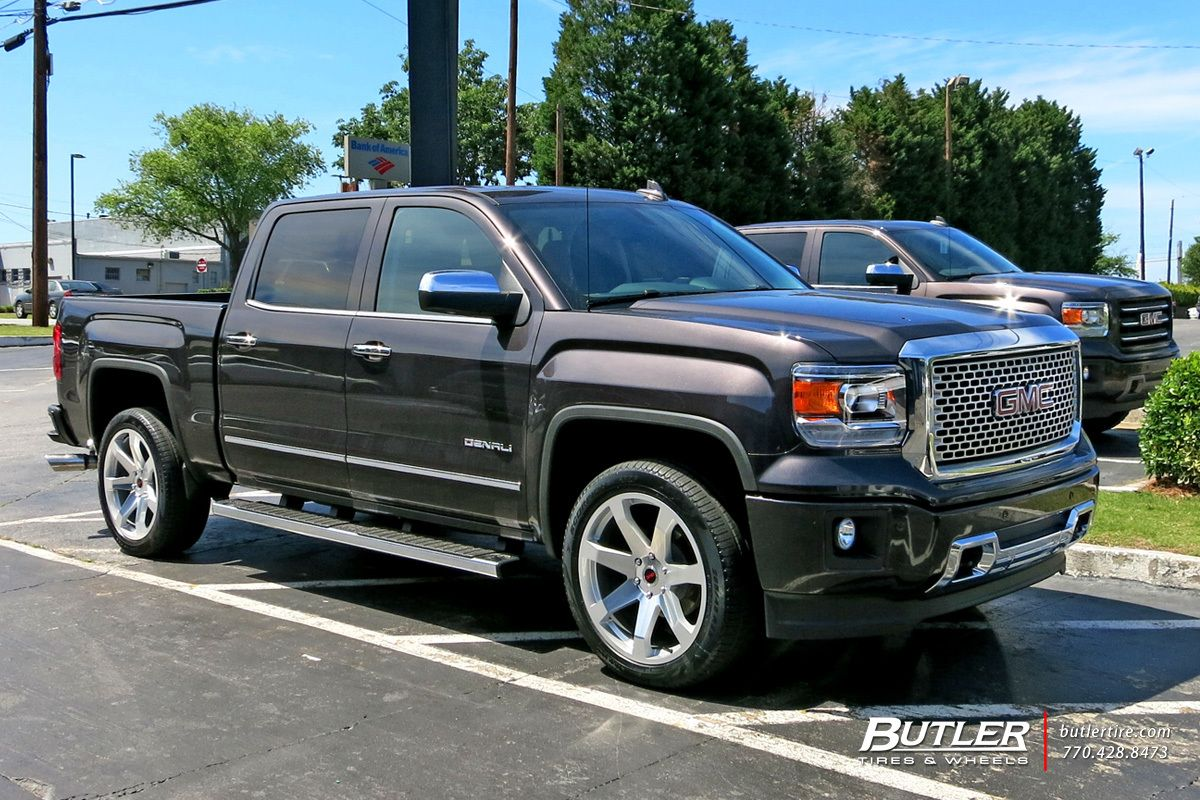 Gmc Sierra With 22in Black Rhino Mozambique Wheels Samochody