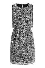 lockeres print chiffonkleid mit zierperlen  kleider damen damenkleider kleider