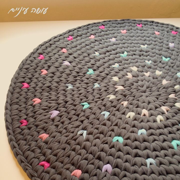 T shirt yarn crocheted rug sweet inspiration crazy for Tapete cool