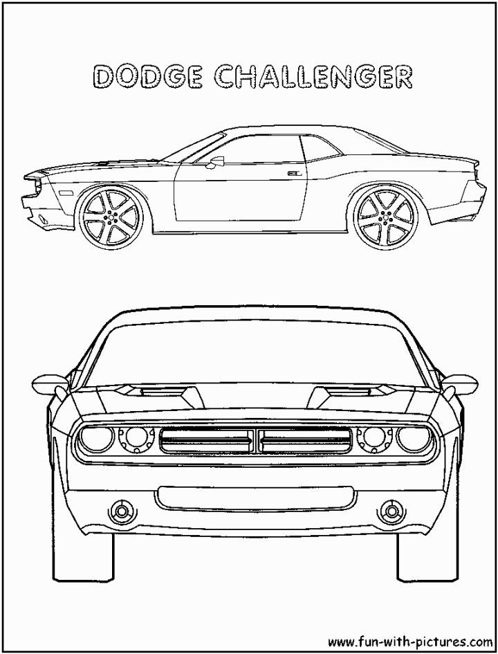 Dodge Challenger Coloring Pages Dodge Challenger Dodge Challenger