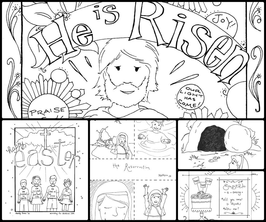 story of easter mini book to print in color or black and white