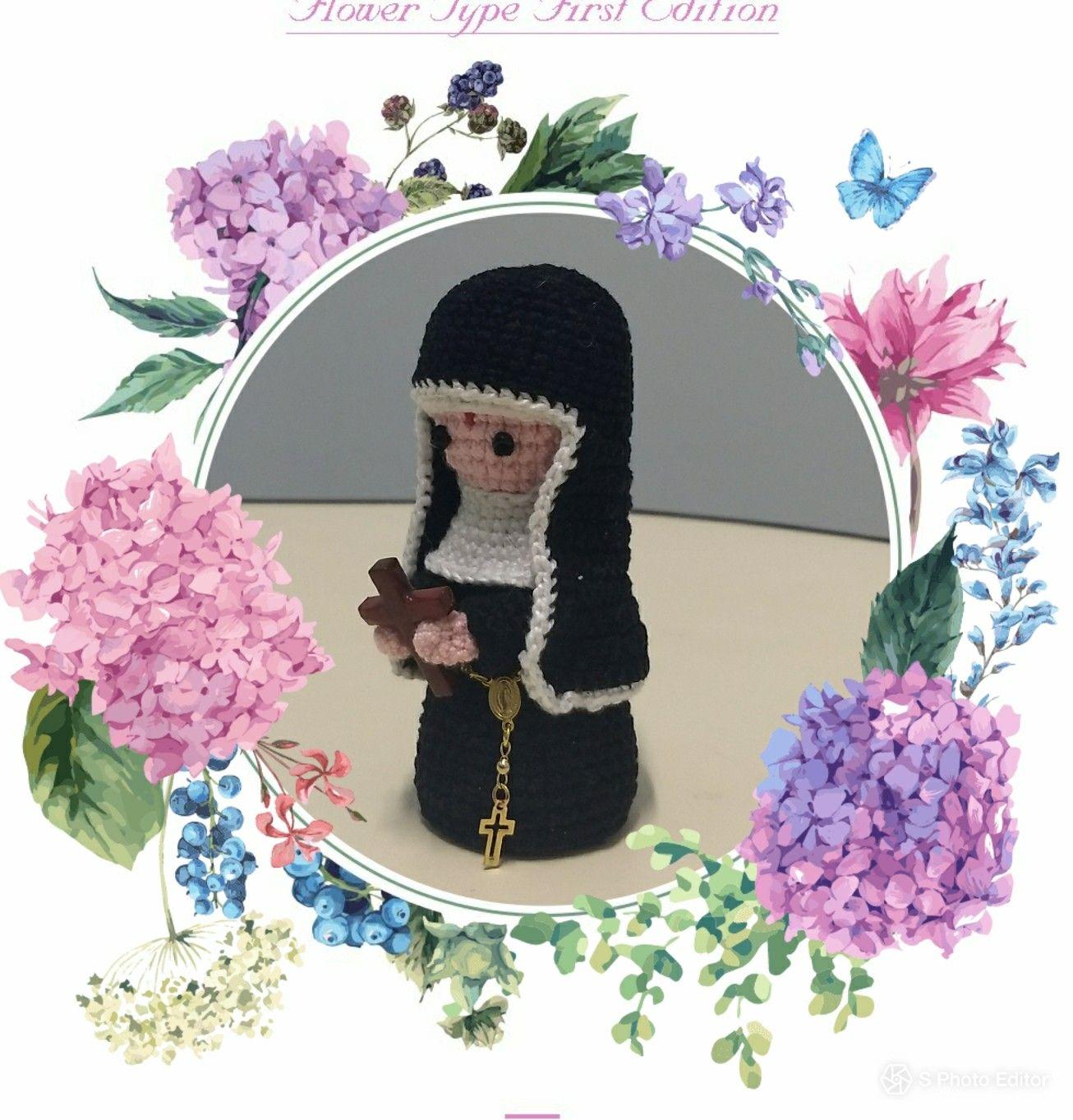 Nossa Senhora das Graças - Parte 1 - Amigurumi Passo a Passo - YouTube | 1363x1306
