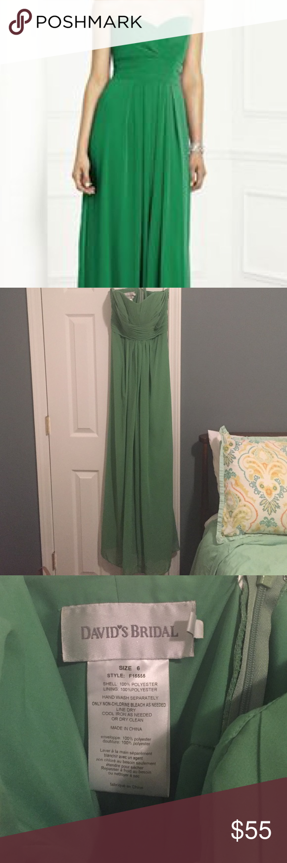Kelly green strapless dress by davids bridal sz 6 it is kelly kelly green strapless dress by davids bridal sz 6 ombrellifo Gallery