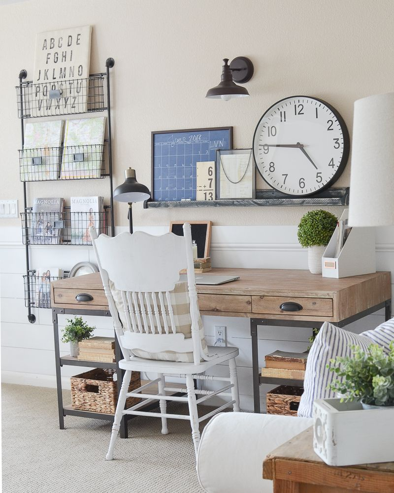 Farmhouse Style Home Office Reveal! Farmhouse office