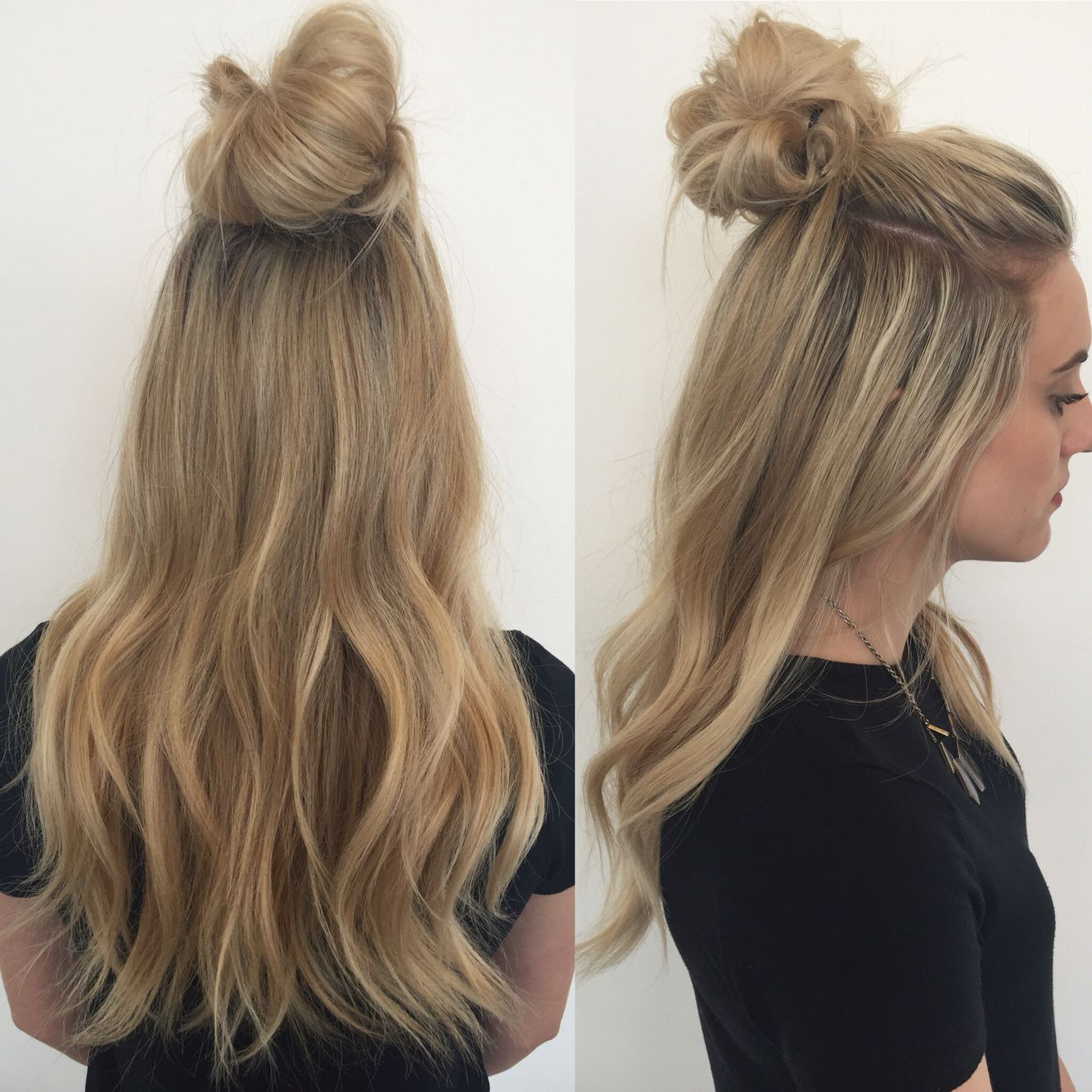 top knot extensions// hair extensions// hairstylist // clip