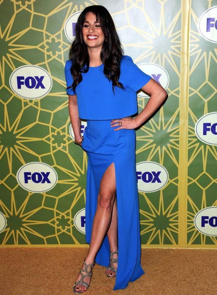 'Glee' Star Lea Michelle Works Her Blue Dress