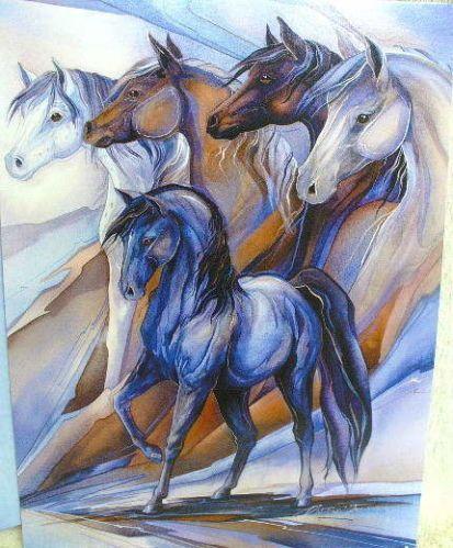 Leanin' Tree Horses Inspirational Greeting Card Jody Bergsma Made in USA - NEW