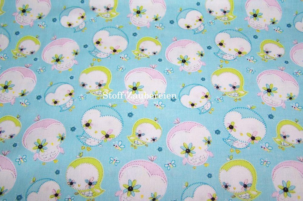 Camelot Dream a Little Dream Eulen Owls Bienen Blumen Sterne Patchwork BW Stoff