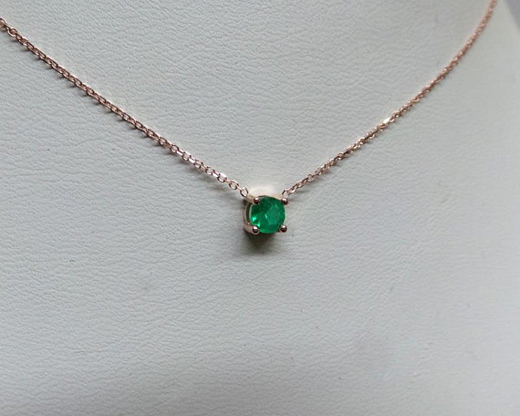 Pin On Birthday Gift Emerald Necklace 14k Gold Emerald Necklace