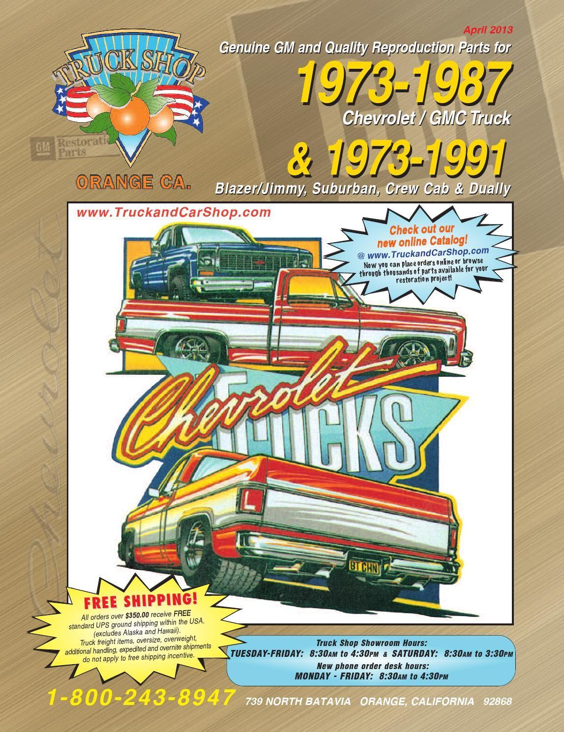 Ts 73 87 Web Cat Gmc Truck Racing Car Design Cab