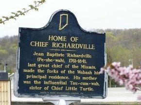 Photo of Home of Chief Richardville Historical Marker